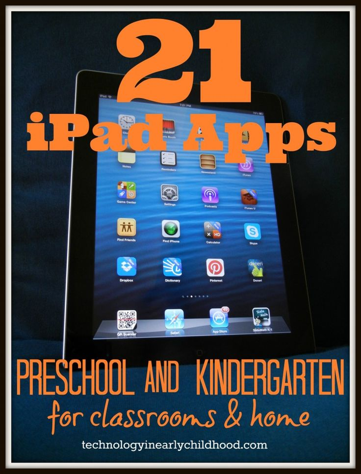 21 apps for preschool and kindergarten