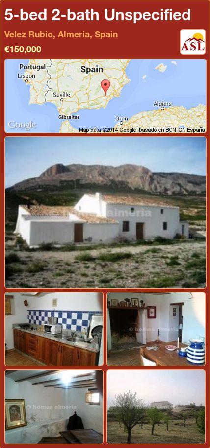 5-bed 2-bath Unspecified in Velez Rubio, Almeria, Spain ►€150,000 #PropertyForSaleInSpain