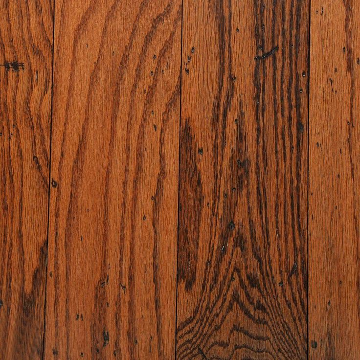 Bruce Distressed Oak Gunstock 3/8 in. Thick x 5 in. Wide Random Length Engineered Hardwood Flooring (25 sq. ft. / case) - AHS5011 - The Home Depot