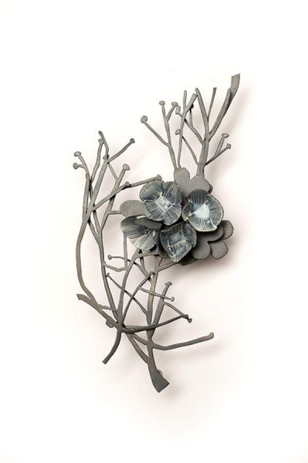 Nina Ellis   Weeds - Twiggy Weed Brooch 2011  Mild steel & Sterling Silver