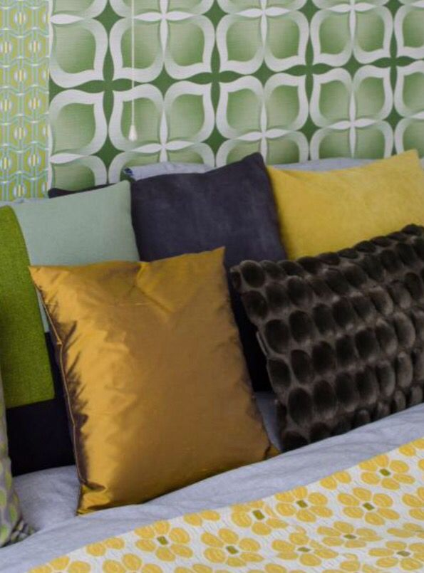 "These lovely combination of pillows is from our feature ""Vivid Vibes"""