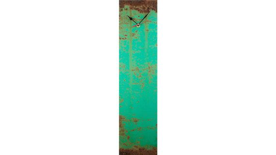 Rustic Wall art Metal Wall clock Rusty Metal by ReformationsUK