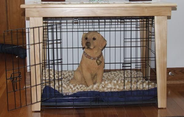 Amish Custom Handcrafted Solid Wood Table Dog Crate Cover  Dog Crate  Covers  Pinterest  Amish, Solid wood table and Crate cover