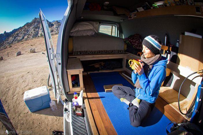 Camper Van Interior Patagonia Yoga Sonnie Trotter