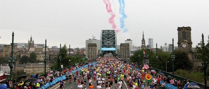 Bupa Great North Run - run this Abington pulled out in 2008 with sinusitis!