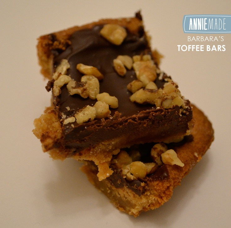 Recipe for Barbara's Toffee Bars - Rich Buttery Shortbread Bars topped ...