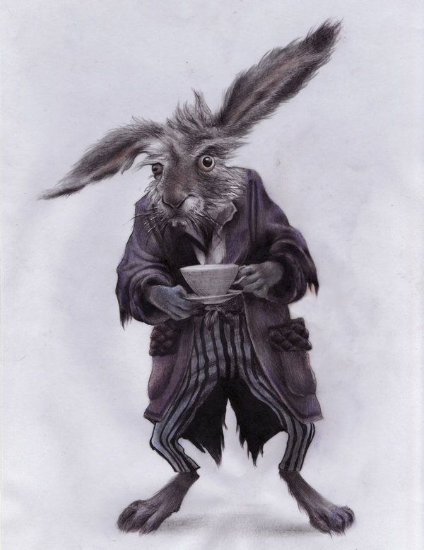march hare pencil and a bit of pastel thank you for your comments and big thanks for the creator of march hare michaelkutsche March Hare
