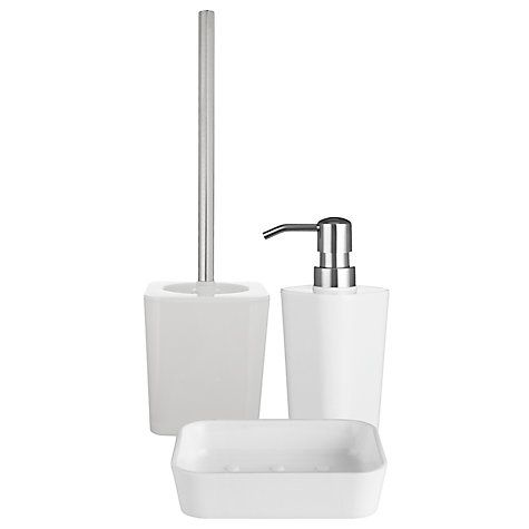 Buy john lewis arctic white bathroom accessories online at splish splash John lewis bathroom design and fitting