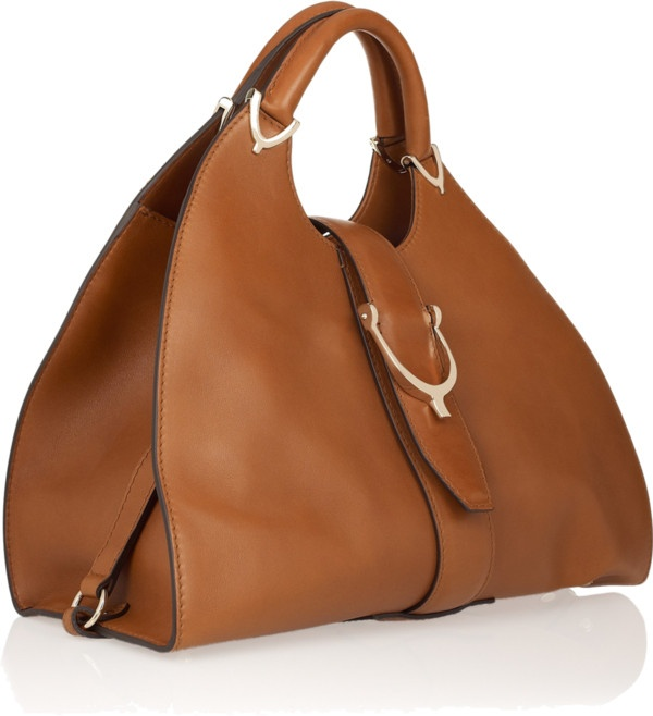 2,390 - Gucci Stirrup leather tote