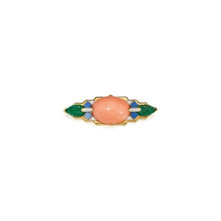 Buy online, view images and see past prices for CORAL, CARVED EMERALD, LAPIS LAZULI AND DIAMOND BROOCH, DAVID WEBB. Invaluable is the world's largest marketplace for art, antiques, and collectibles.