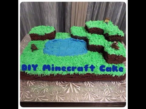 Tutorial | How to Make a Quick and Easy Buttercream Minecraft Cake - Sha...
