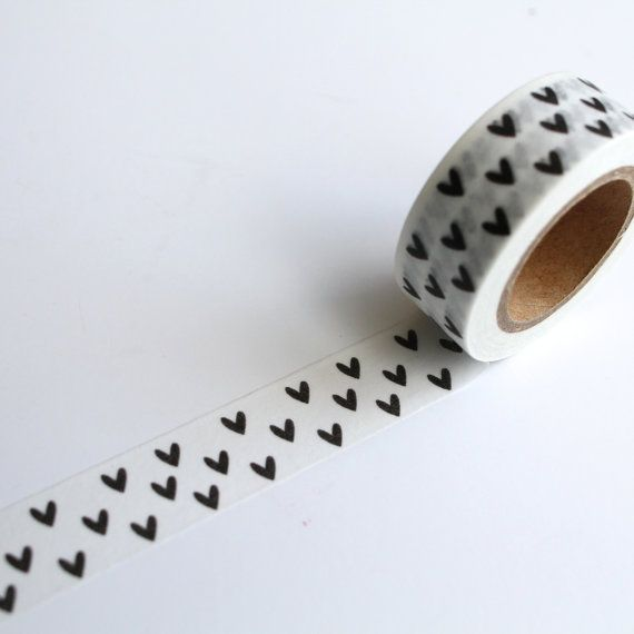 Hey, I found this really awesome Etsy listing at https://www.etsy.com/listing/234114606/black-love-heart-washi-tape-hearts