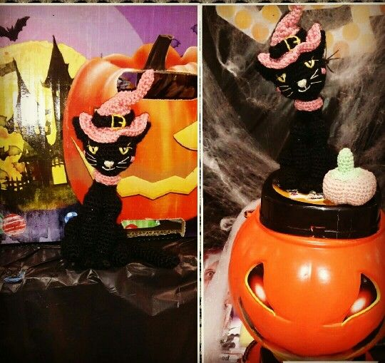 Gatito halloween amigurumi