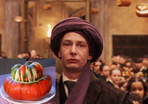 Professor Quirrell would be a turban squash.