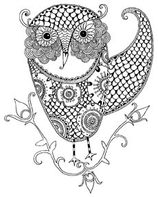 17 best images about zentangle and color on pinterest for Weimaraner coloring pages