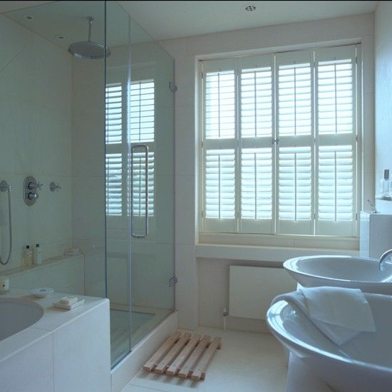 Shower room with shutters