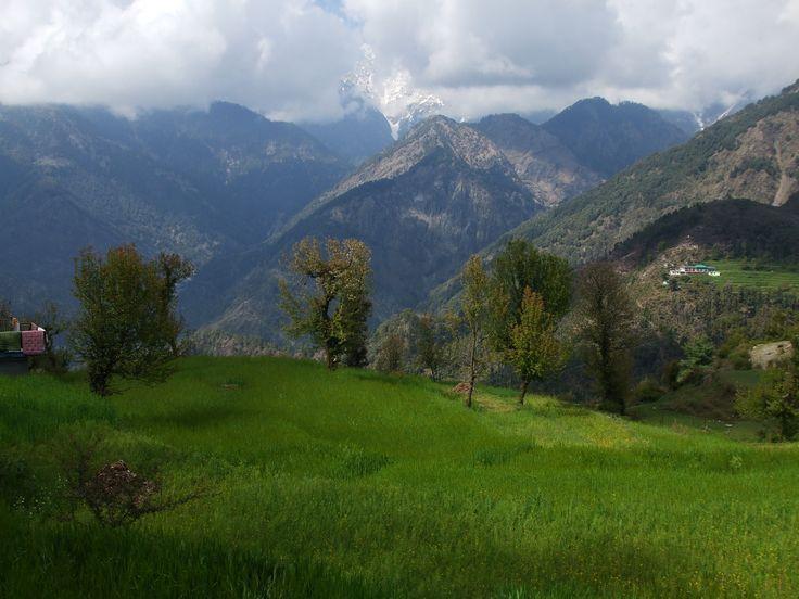 Dhauladhar mountains, part of the Himalayan Range