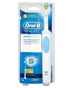 Braun Oral-b Vitality White and Clean Toothbrush OralB Vitality White and Clean Rechargeable Toothbrush combines effective electrical cleaning with whitening action to remove stains and restore natural brilliance. The toothbrush, like the rest of th http://www.MightGet.com/march-2017-1/braun-oral-b-vitality-white-and-clean-toothbrush.asp