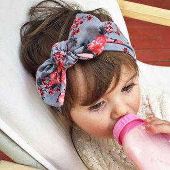 1 PCS bebê crianças menina criança da criança infantil flor Floral Bow Hairband Turban nó coelho Headband Headwear cabelo acessórios banda