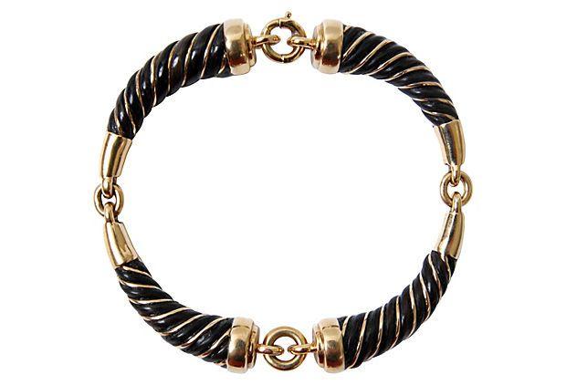 18K Gold Elephant Hair Bracelet on OneKingsLane.com