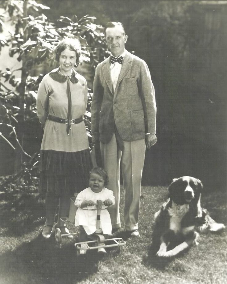 Stan Laurel and First Wife, Lois, with his daughter Lois Laurel