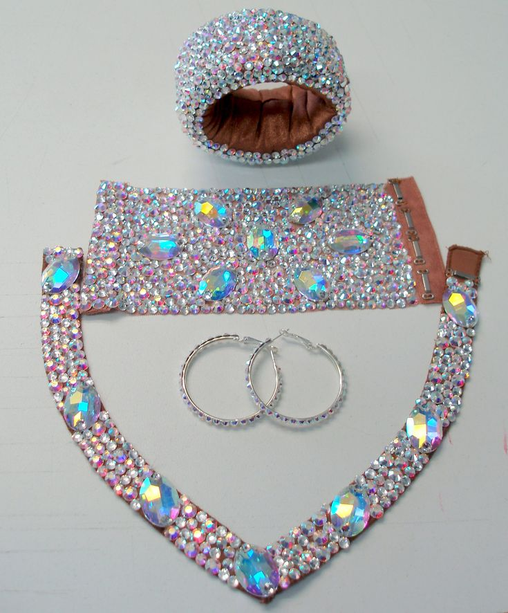 Custom Jewelry Set Personalize this jewelry set for your competition or showcase! Colors and design can be customized to match your dress. $400 for this exact design, ...