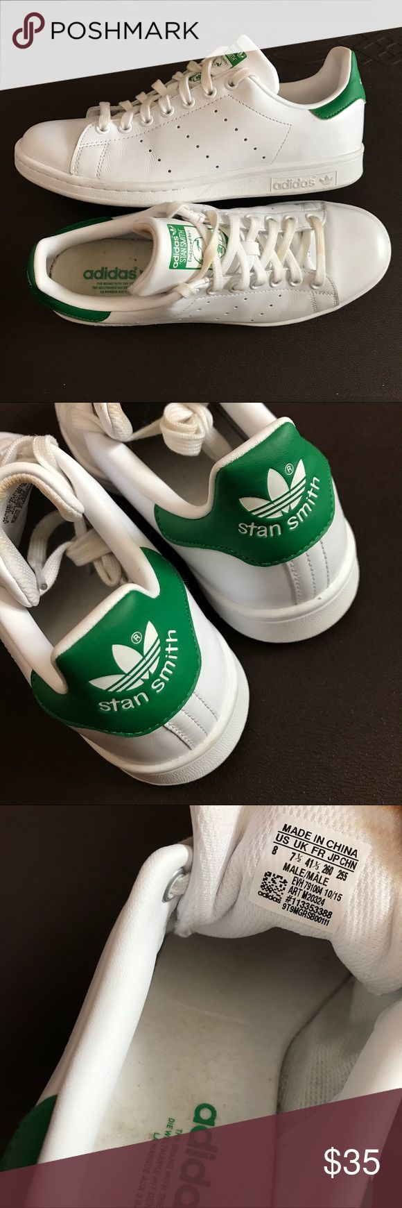 Adidas Original Stan Smith White Sneakers Excellent condition like new. Only worn few hours. Male size 8 (unisex shoe). Ready to ship! adidas original Shoes Sneakers