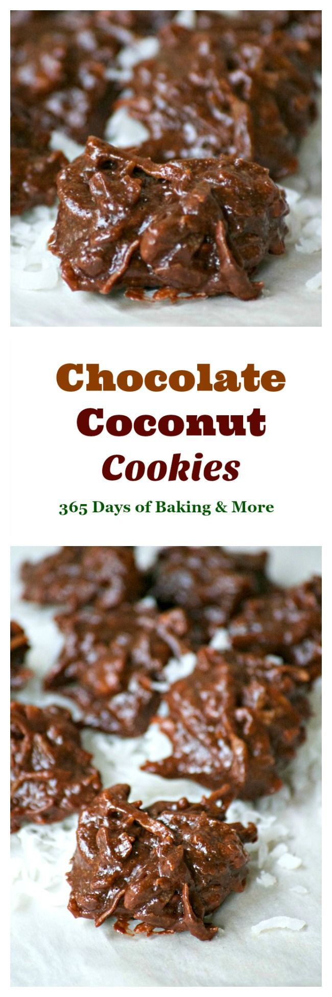 These Chocolate coconut cookies are flour-less cookies that are chewy, chocolatey, sweet and delicious. You can't stop at just one!