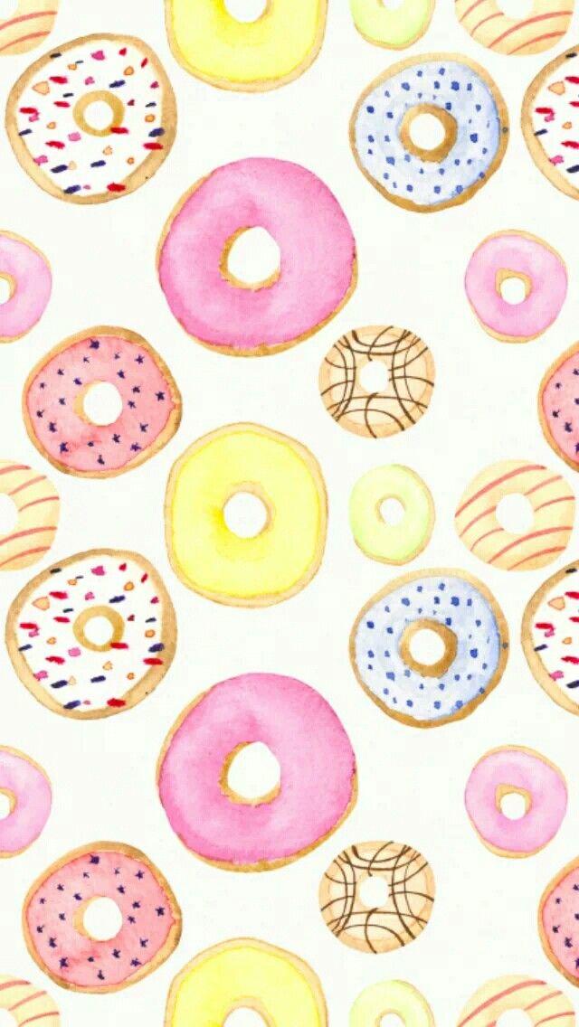 Картинки с пончиками на айфон