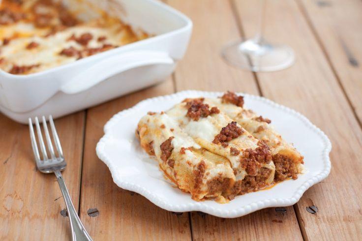 Cannelloni di crespelle al ragù alla bolognese ricetta