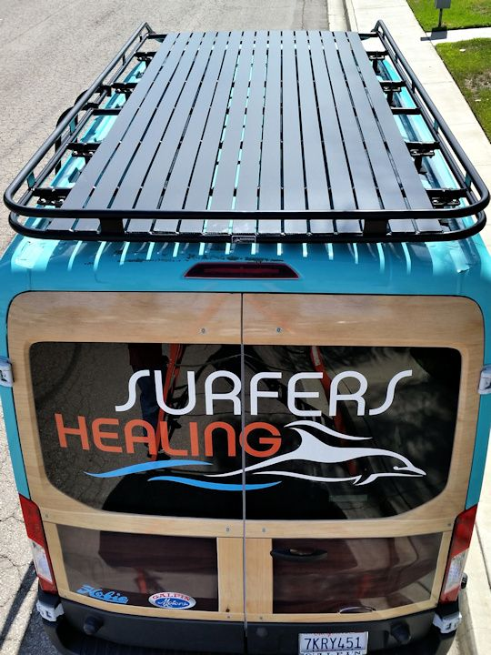Ford Transit - Aluminess roof rack with tight spacing on slats