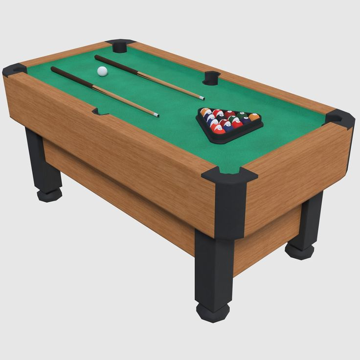 3D Pool Table   Games Model - 3D Model