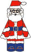 bouwplaat kerstman