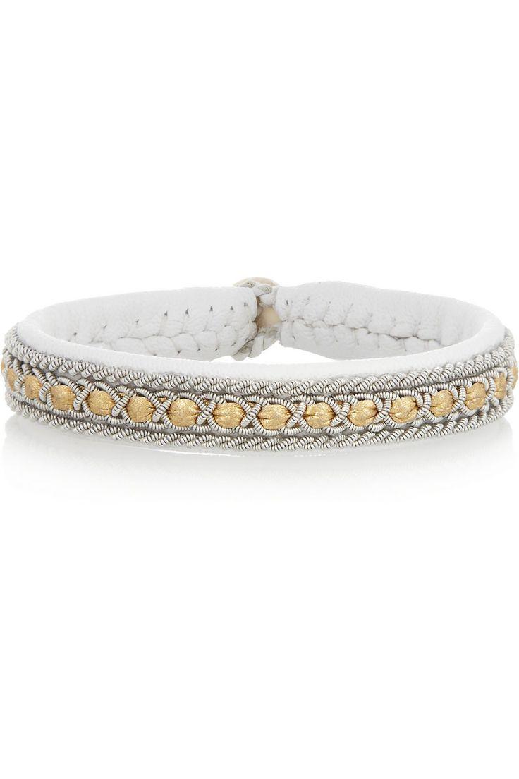 Maria Rudman|Embroidered leather bracelet |NET-A-PORTER.COM