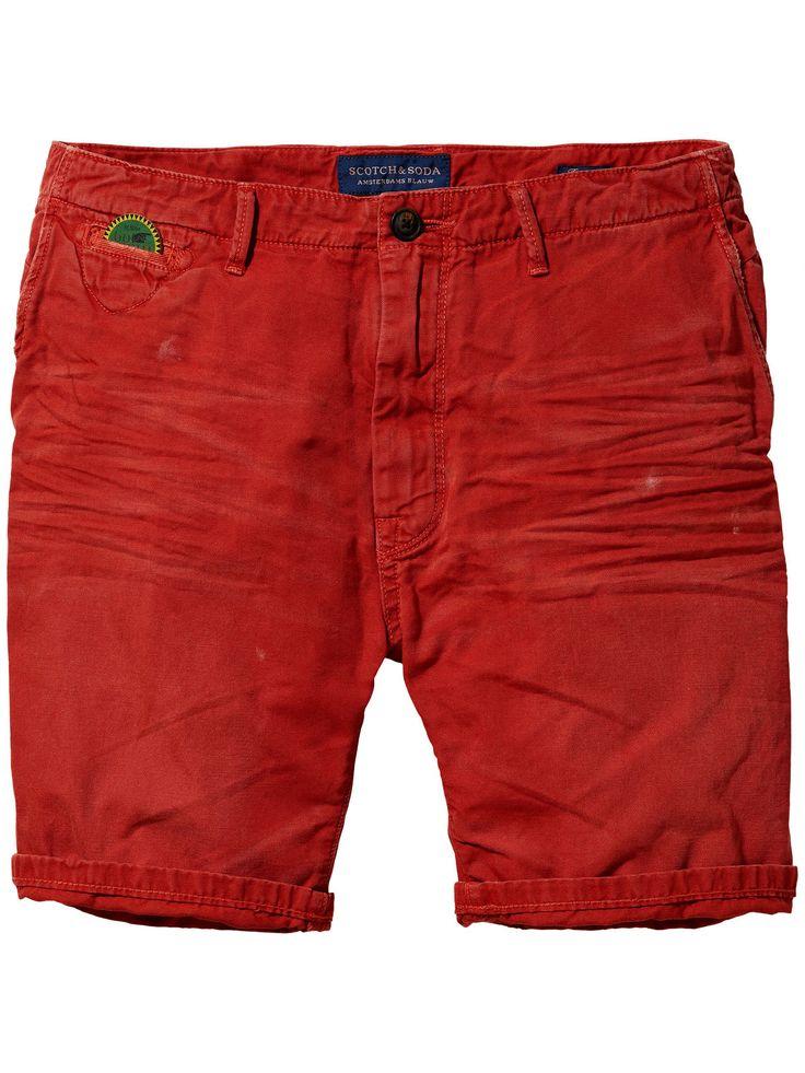 Shorts chinos Freeman - Lona teñida en prenda | Shorts denim | Ropa para hombre en Scotch & Soda