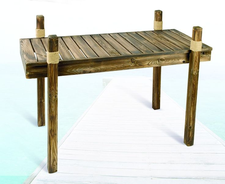 Wooden Dock Table - Nautical Outdoor Furniture, Nautical Patio Tables at Everything Nautical - Decorative Furniture