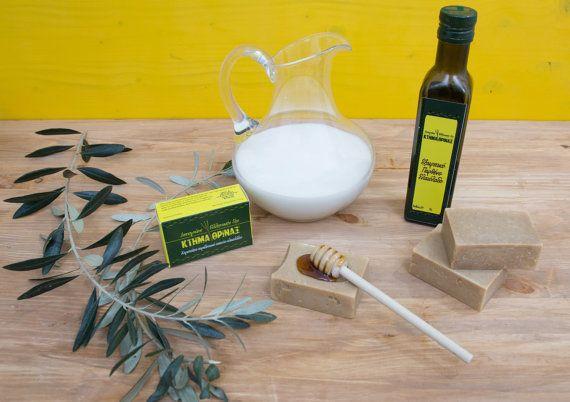 Goats milk honey soap bar handmade cold process by KtimaThrinax