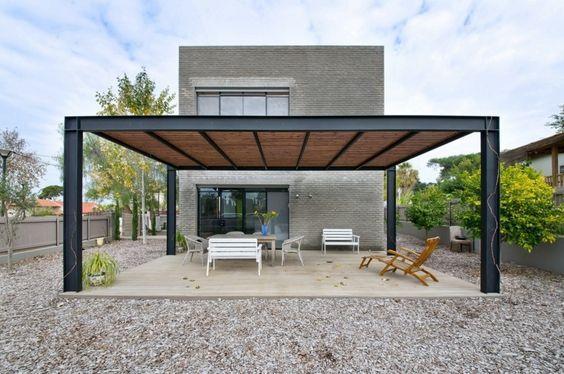 estructura de hierro para patio