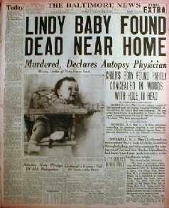 The Baltimore News. Lindy Baby Found Dead Near Home. Murdered, Declares Autopsy Physician. ( May 13, 1932)