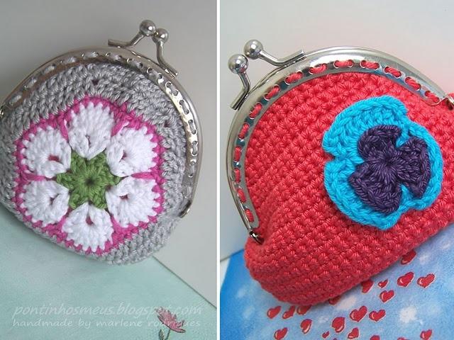 Lovely little crochet purses