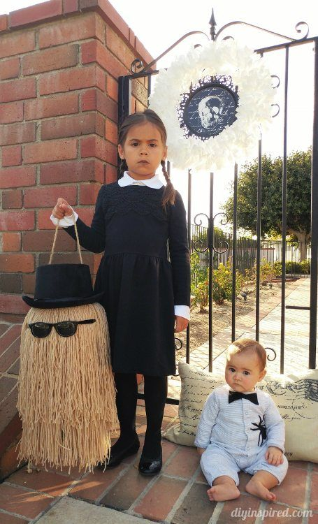 DIY Baby Pubert Addams Halloween Costume