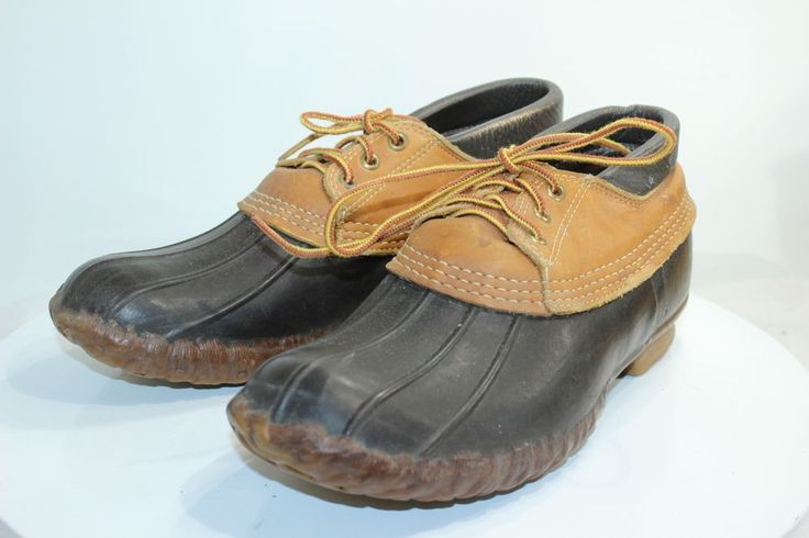 LL Bean Maine Hunting Ankle Laceup shoe Duck Boots Mens size 8 Brown #LLBean #AnkleBoots