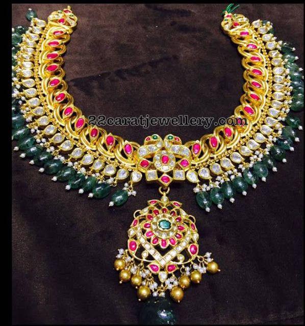 Temple Set by Musaddilal Gems Jewellers - Jewellery Designs