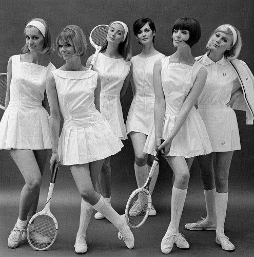 Tennis group for the Daily Mail (U.K.), photographed by John French, May 29th 1964.