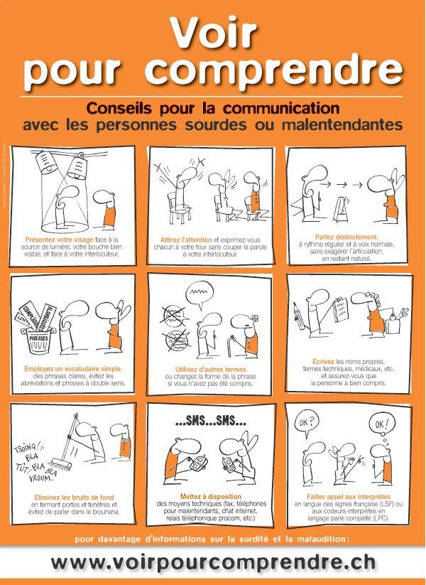 Association Fribourgoise des malentendants: Parler à un malentendant