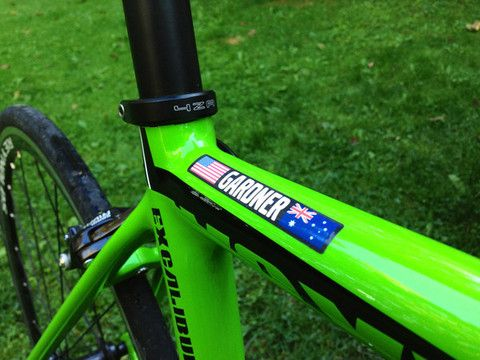 Custom bike decals.