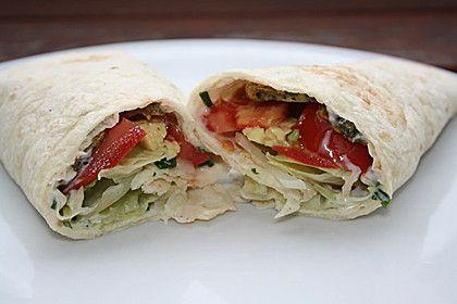 Vegetarischer Wrap mit Tzatziki, ein gutes Rezept aus der Kategorie Vegetarisch. Bewertungen: 2. Durchschnitt: Ø 3,8.