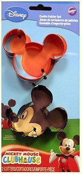 Wilton Set of 2 Mickey Mouse Disney Clubhouse Shape Cookie Cutters on Etsy, $5.99