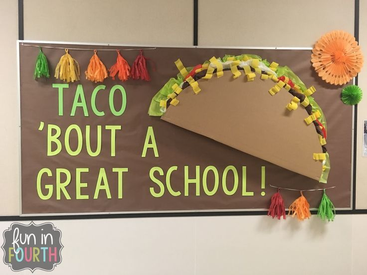 Let us #Taco # & # 39; Bout #Bulletin #Boards # | #Fun #in # Fourth – Back to School