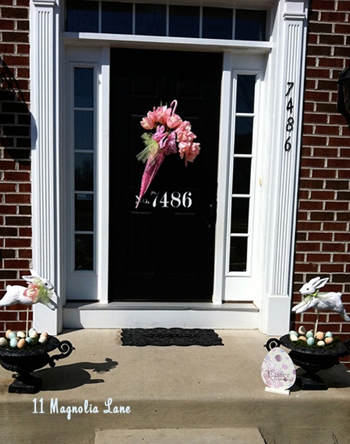 73 best front door porch spring decor images on pinterest Spring flower arrangements for front door